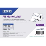 PE Matte Label - udstansede labels  102 mm x 76 mm (1570 labels)