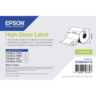 High Gloss Label - udstansede labels  102 mm x 76 mm (1570 labels)