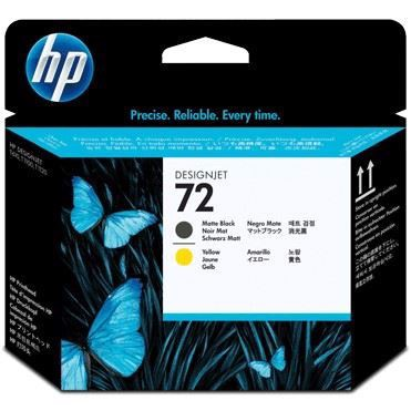 HP 72 Matte Black and Yellow Printhoved | C9384A