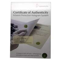 Hahnemühle Certificate of Authenticity (Ægthedsbevis)