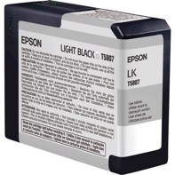 Epson Light Black 80 ml blækpatron T5807 - Epson Pro 3800 og 3880