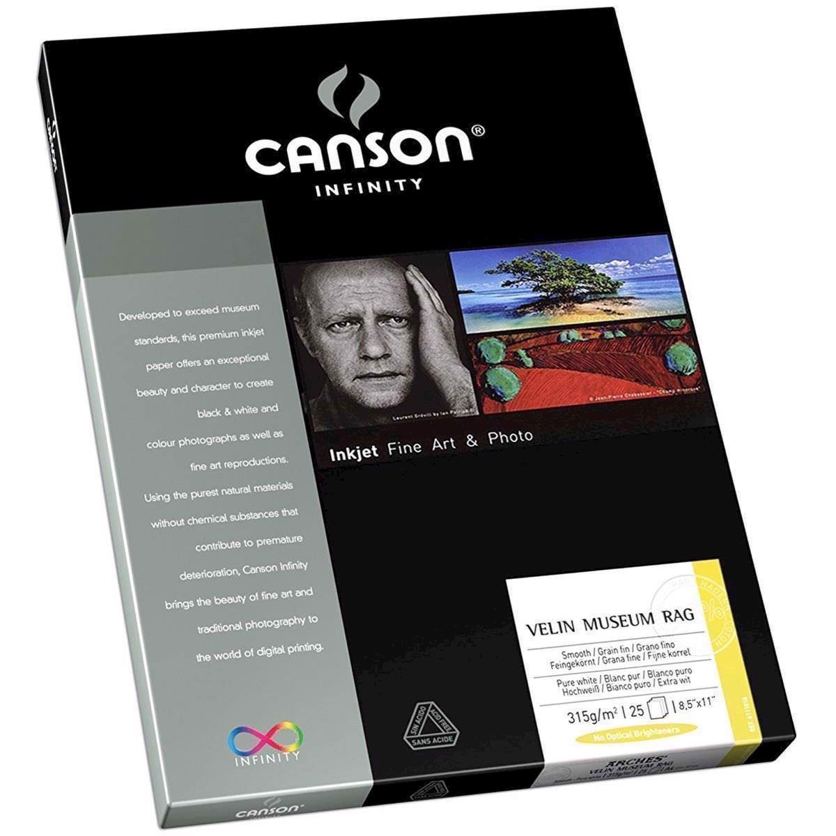 Canson Velin Museum Rag 315 g/m² - A2, 25 ark